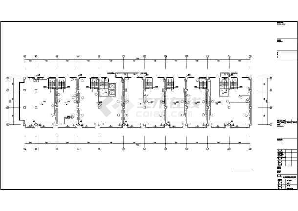 潍坊某地上七层公寓采暖通风图(散热器供暖)-图二