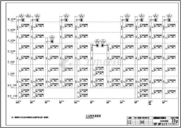 某二十六层广场建筑全套暖通施工图纸及方案-图一