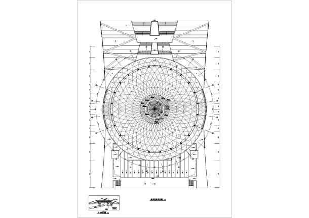 某15346㎡体育馆暖通空调设计图-图1