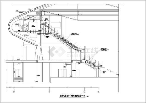 某15346㎡体育馆暖通空调设计图-图3