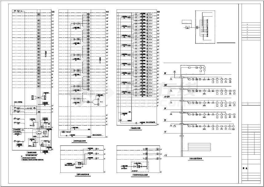 点击查看某写字楼电气施工CAD图纸(含设计说明)第2张大图