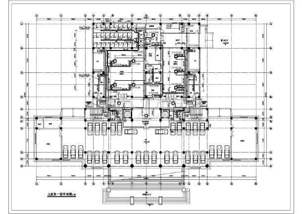 某13000㎡地上八层法院暖通空调平面图-图一