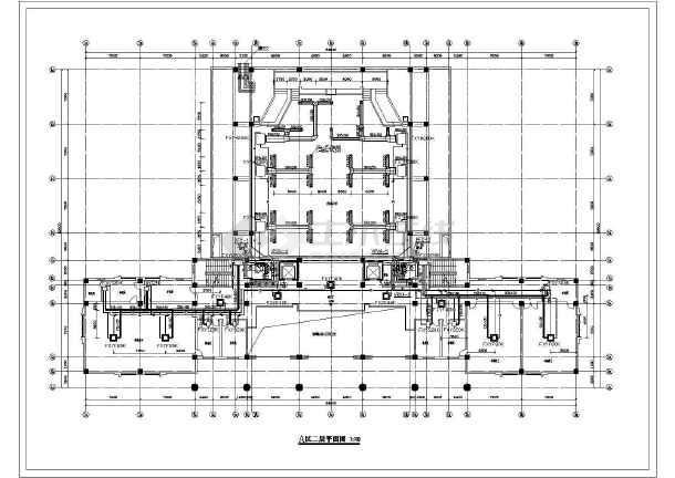 某13000㎡地上八层法院暖通空调平面图-图1