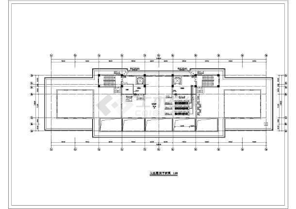 某13000㎡地上八层法院暖通空调平面图-图3