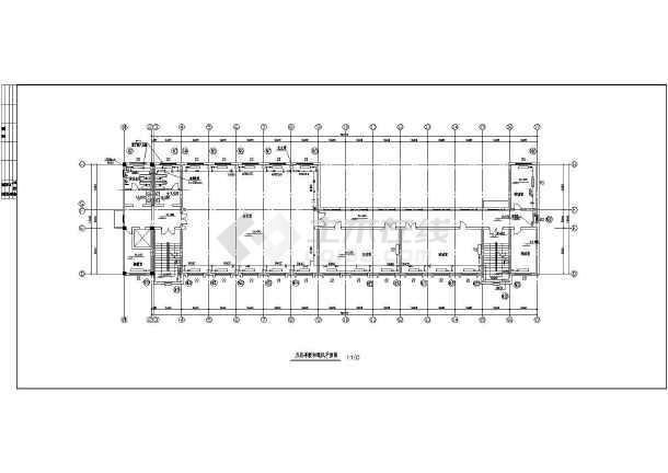 某六层框架结构办公楼采暖通风设计施工图-图二