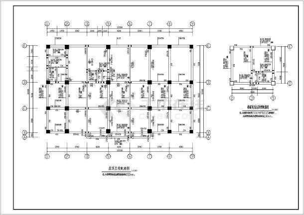 某宾馆附属用房1结构设计图-图一