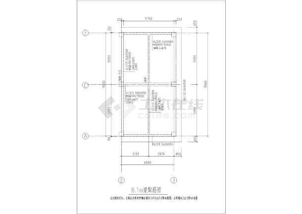 某循环水池结构设计图-图3