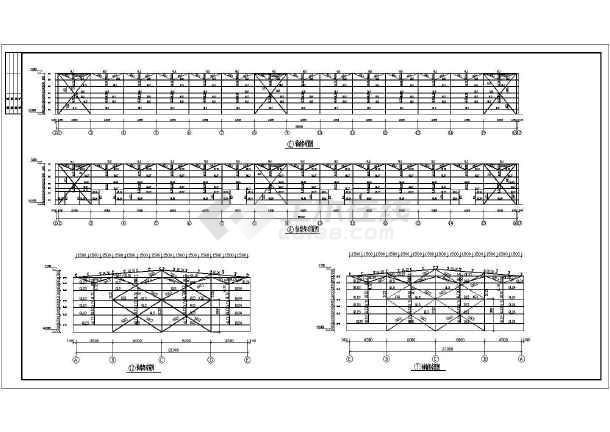 某门式钢架结构设计图,共4张图-图1