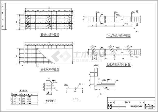某三面广告牌结构设计图-图2