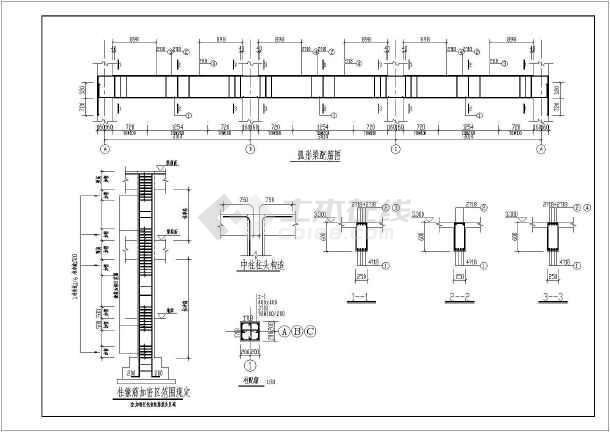 某钢结构大门结构设计图-图二