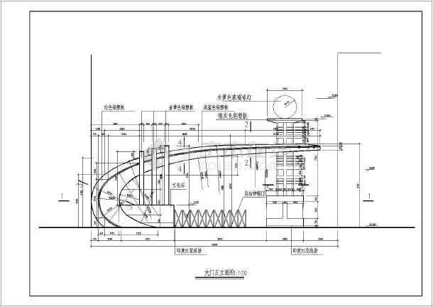 某钢结构大门结构设计图-图2