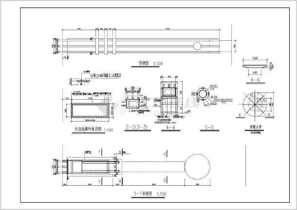 某钢结构大门结构设计图-图3