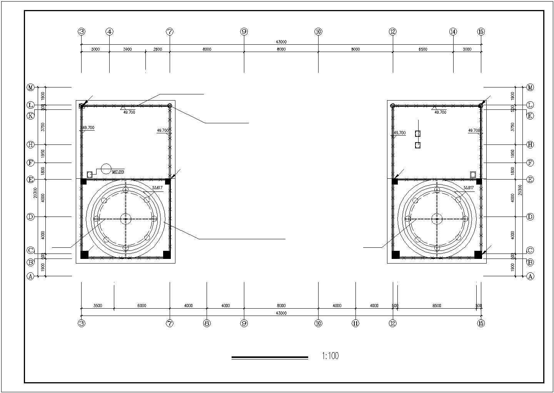某地上十三层办公楼电气设计图纸(三级负荷)图片1