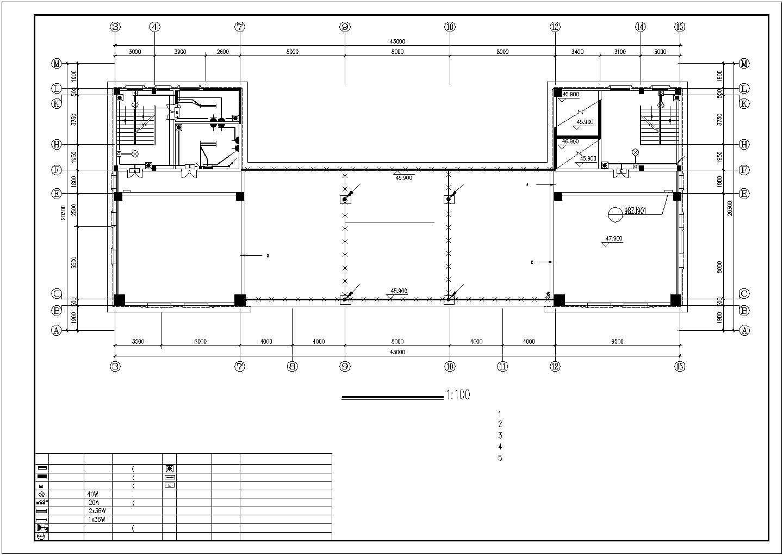 某地上十三层办公楼电气设计图纸(三级负荷)图片2