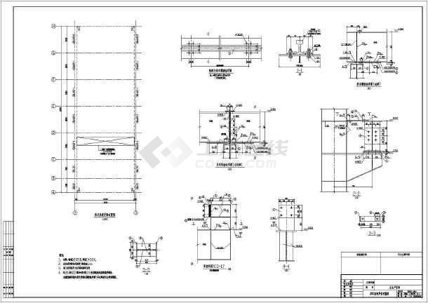 【包头】某生产线主生产车间结构设计图-图一