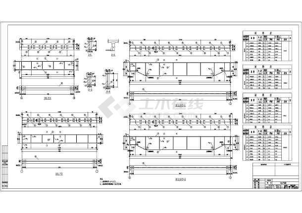 【包头】某生产线主生产车间结构设计图-图1