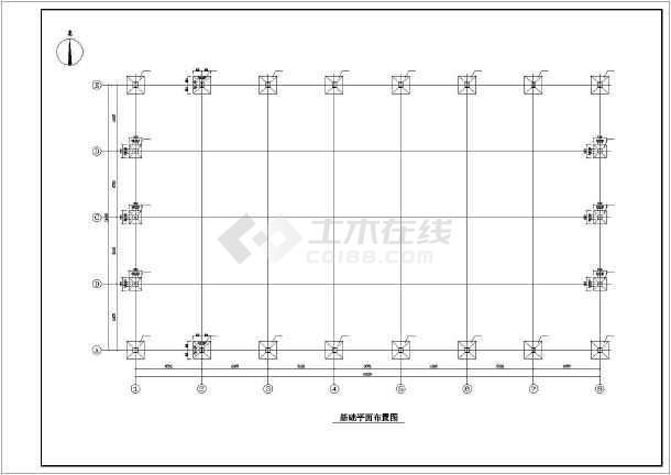 某24米跨厂房结构设计图-图2