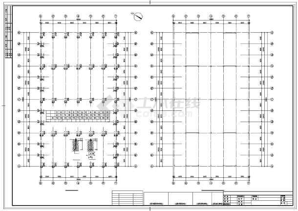 点击查看某单层排架全钢结构车间设计图第2张大图