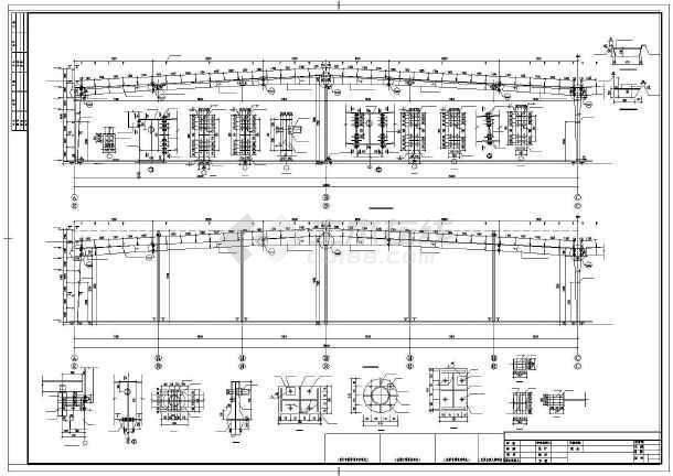 某单层排架全钢结构车间设计图-图2