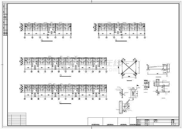 某单层排架全钢结构车间设计图-图3