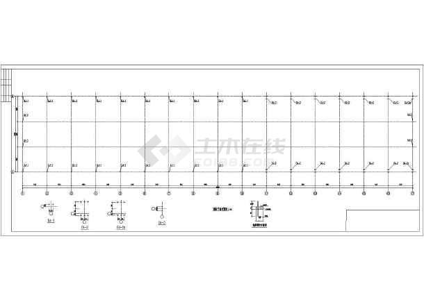点击查看某钢结构厂房图纸第1张大图