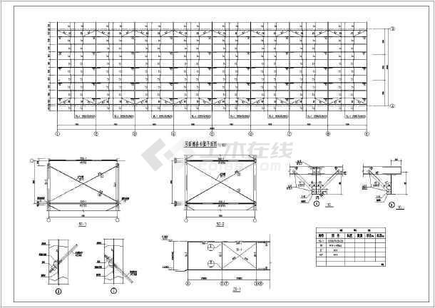 某单坡仓库结构设计图-图2