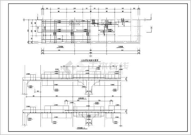 某冷却循环水池建筑结构图-图1