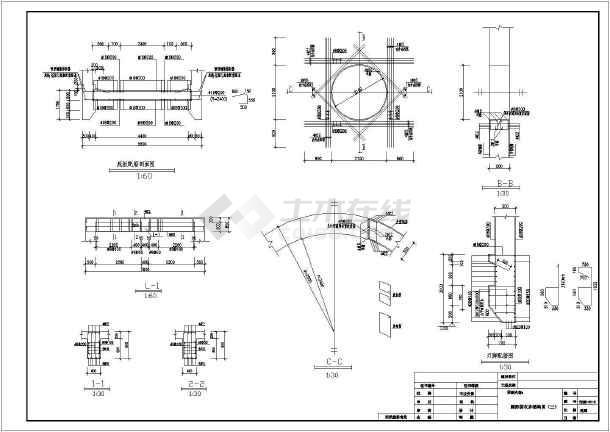 某圆形接收井结构设计图-图二