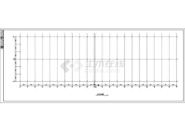 点击查看某门式钢架大跨度建筑结构图,共7张第1张大图