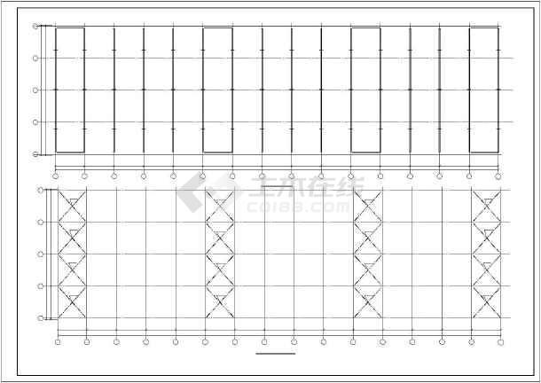 点击查看某门式刚架厂房结构设计图,共10张第1张大图
