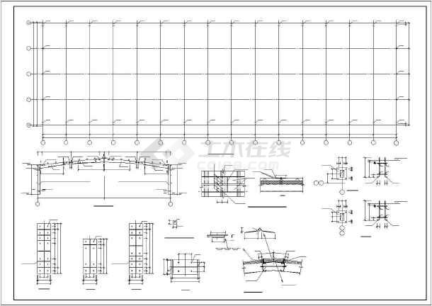 点击查看某门式刚架厂房结构设计图,共10张第2张大图