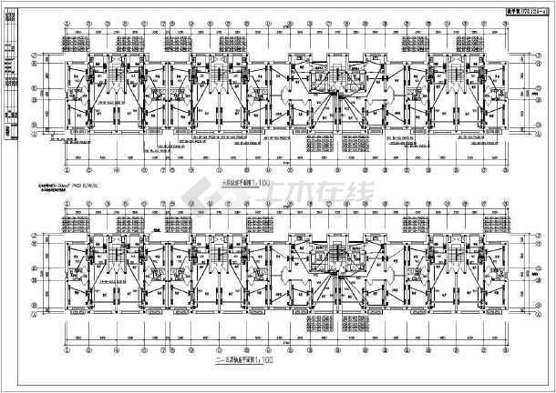 某六层住宅楼全套电气设计施工图纸(共八张图)-图1