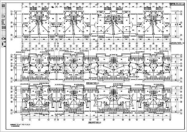 某六层住宅楼全套电气设计施工图纸(共八张图)-图2