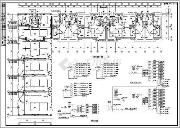 某六层住宅楼全套电气设计施工图纸(共八张图)-图3