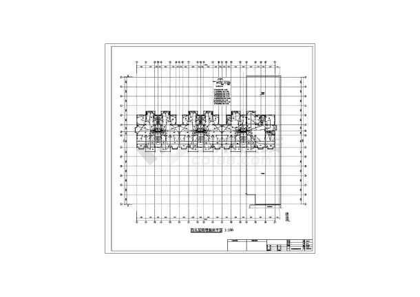 某六层框架结构商住楼全套电气设计施工图纸-图二