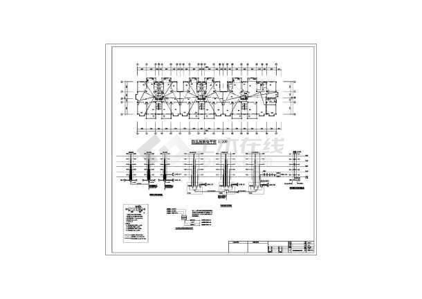 某六层框架结构商住楼全套电气设计施工图纸-图3