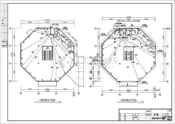 某住宅小区超市电气设计施工图(共10张图)-图一