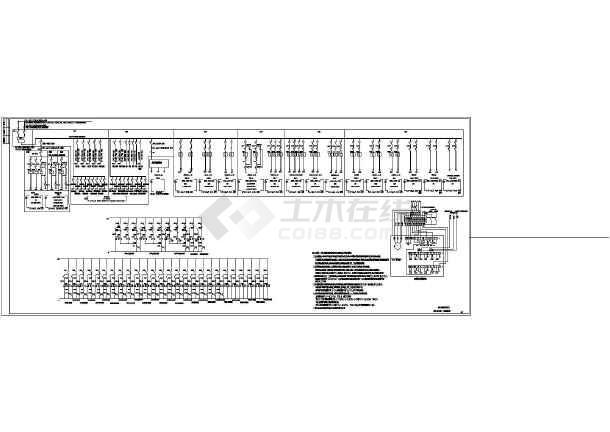 某污水处理站全套电气控制原理图纸-图2