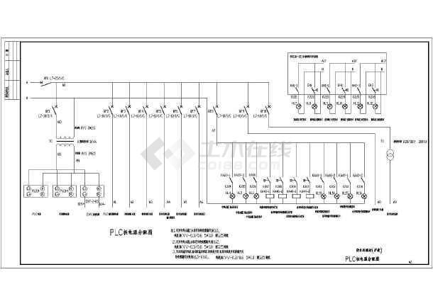 某污水处理站全套电气控制原理图纸-图3