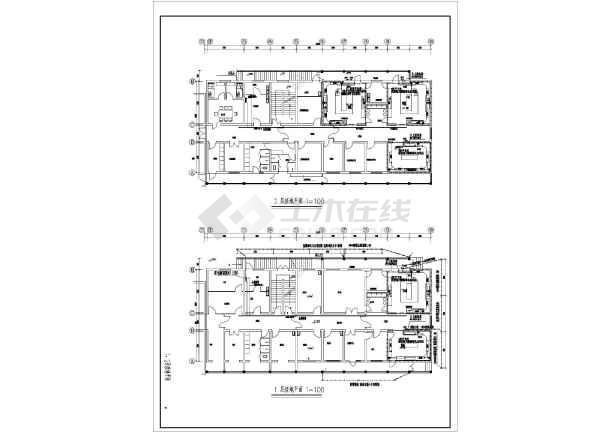 某市人民医院病房楼改建工程电气设计施工图纸-图二