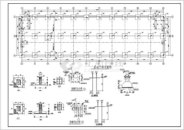点击查看某二层钢框架建筑结构图第2张大图