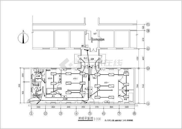 点击查看某医院办公室装修工程电气全套设计施工图纸第1张大图