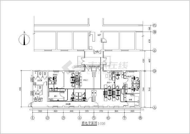 某医院办公室装修工程电气全套设计施工图纸-图1