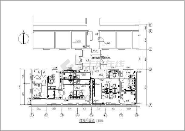 某医院办公室装修工程电气全套设计施工图纸-图2