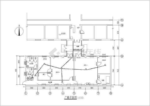某医院办公室装修工程电气全套设计施工图纸-图3