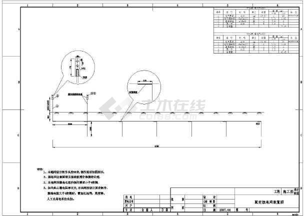 【广东】某工厂250kVA台变配电工程电气设计施工图-图二