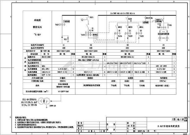 【广东】某工厂250kVA台变配电工程电气设计施工图-图3