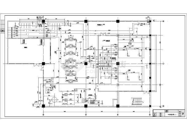 7万平米购物中心冷冻机房暖通施工图纸-图一