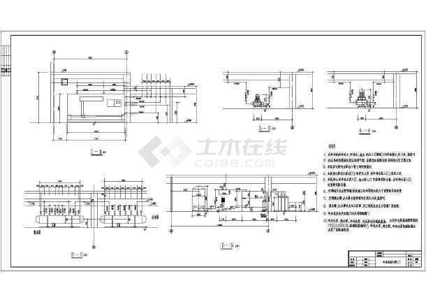 7万平米购物中心冷冻机房暖通施工图纸-图二
