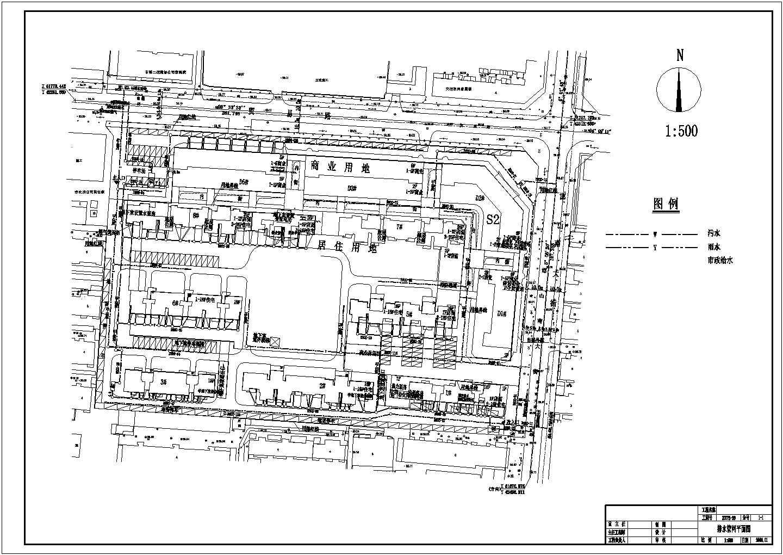 邯郸市某小区室外管网工程图纸图片2